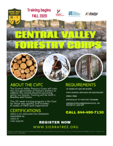 Central Valley Forestry Corps Flyer 7.10.20