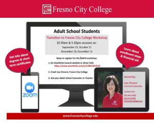 Adult School Fresno City College Fall Workshops 3