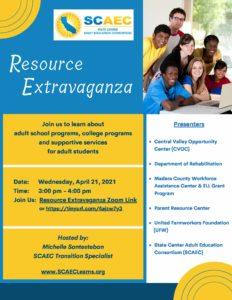 Resource Extravaganza Flyer 04 21 21